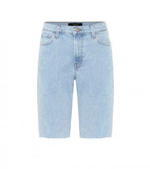 Stretch-denim Bermuda shorts