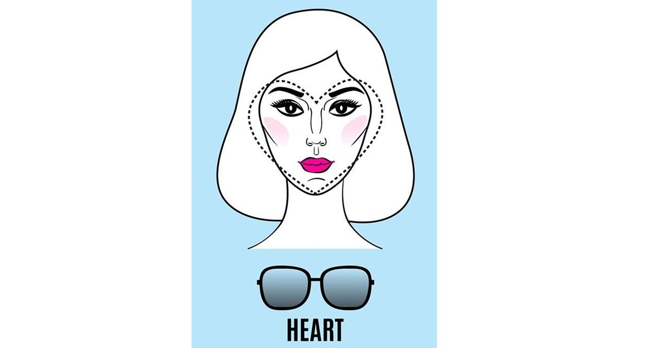 ba1801e09c Τα πρόσωπα με σχήμα καρδιάς έχουν έντονα ζυγωματικά (τυχερές) και ένα καλά  σχηματισμένο στενό πηγούνι. Προτιμήστε μια παιχνιδιάρικη πρόταση με γυαλιά  που ...