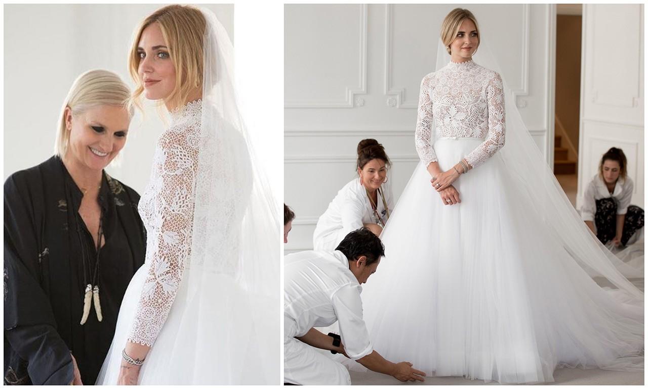 8348c59f39 Όλες οι λεπτομέρειες για το bridal look της Chiara Ferragni - GLOW.GR