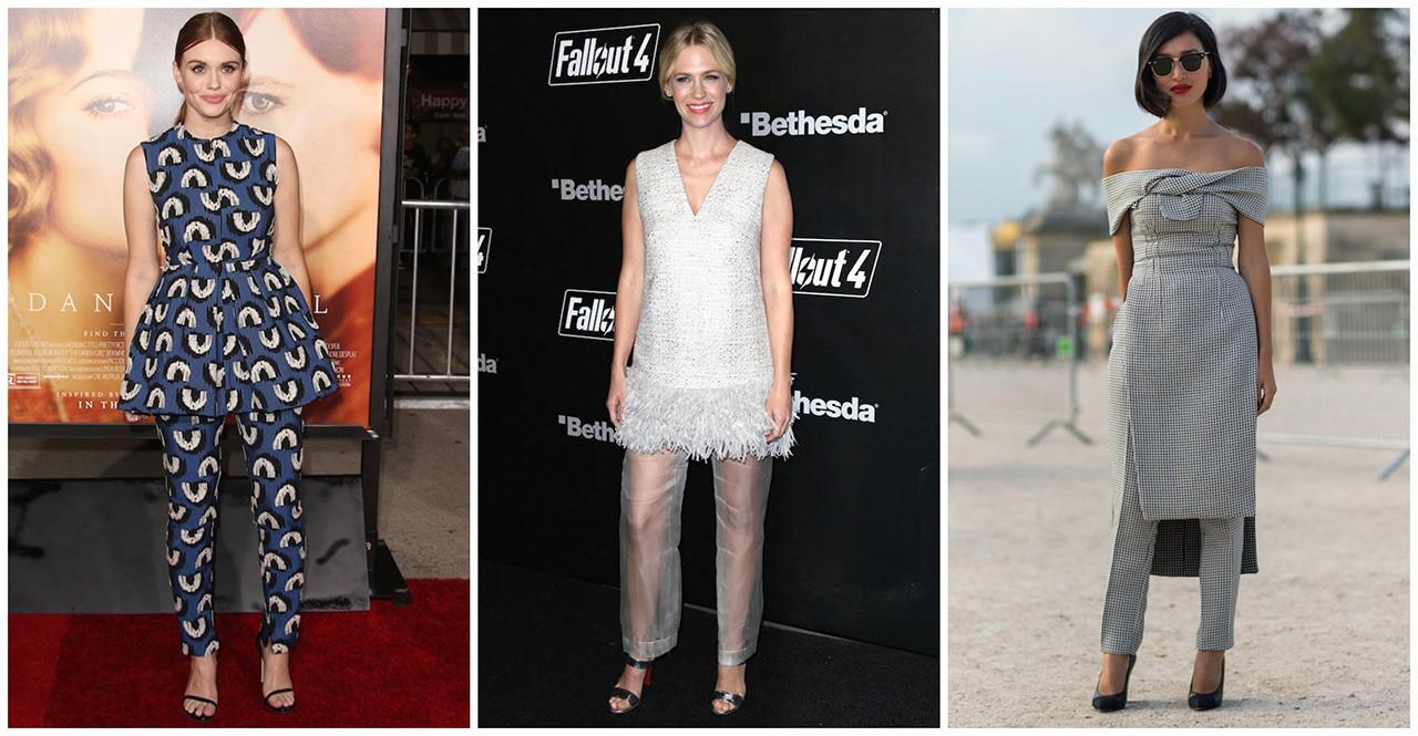 Πως συνδυάζουν οι διάσημες τα φορέματα με τα παντελόνια τους - GLOW.GR a5f6167bda1
