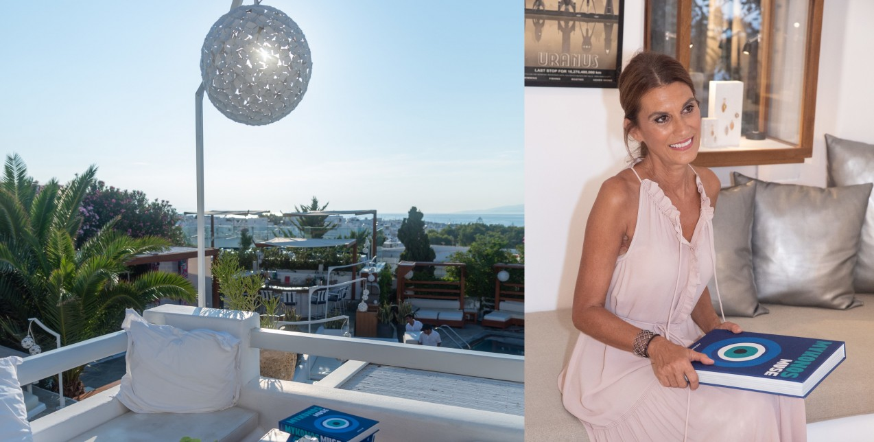 Η Λίζυ Μανωλά παρουσίασε το βιβλίο της Mykonos Muse στο νησί των Ανέμων