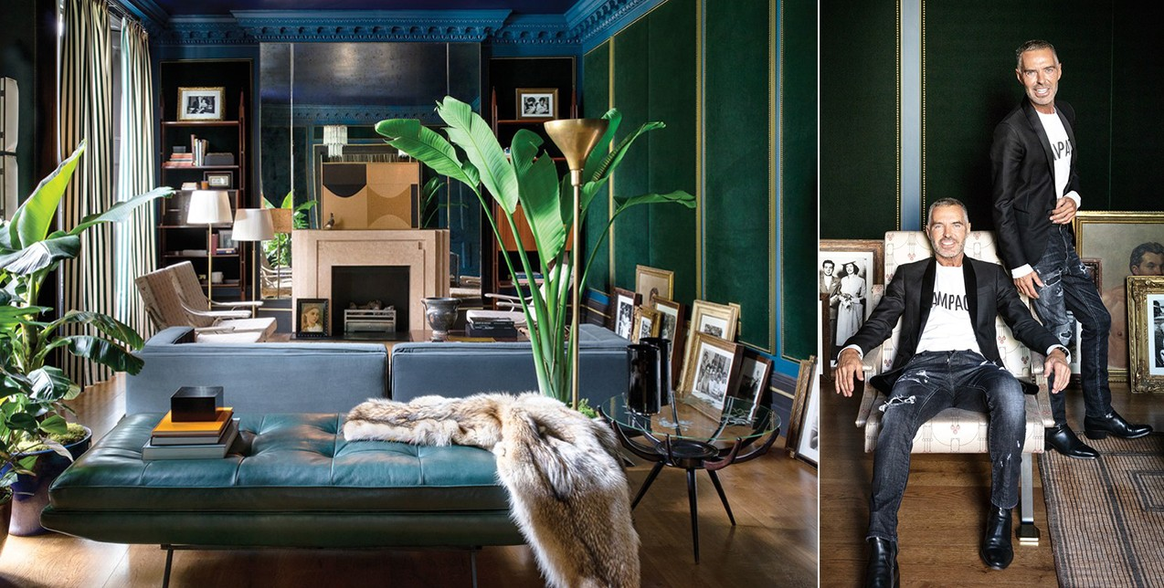 Το ολοκαίνουριο σπίτι των Dsquared2 στο Λονδίνο παραπέμπει σε αισθητική περασμένων εποχών