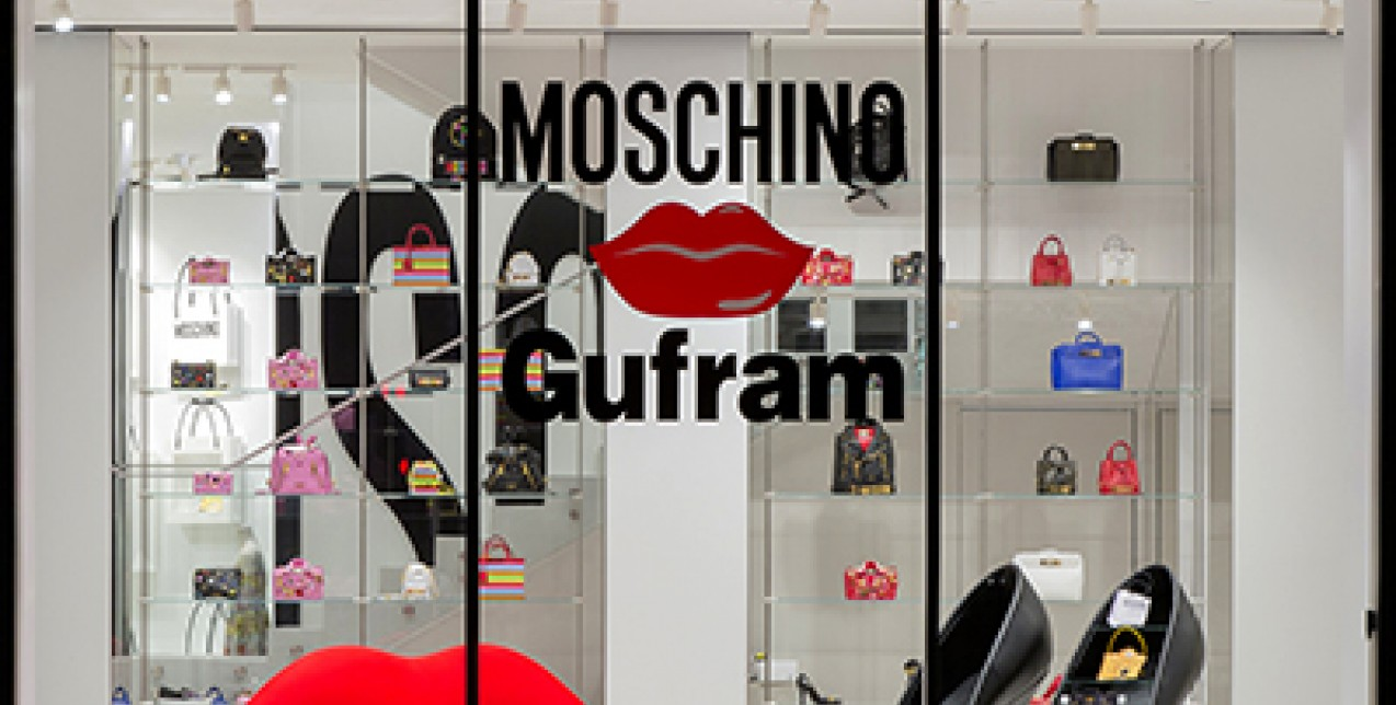 Moschino kisses Gufram