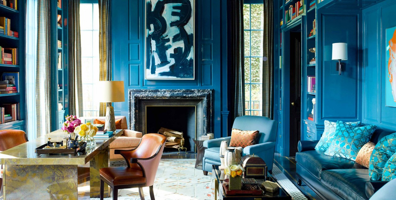 5+1 τρόποι για να νιώσετε τη γοητεία του μπλε στον χώρο σας