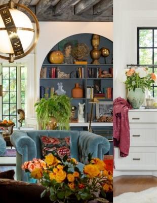 Η Lily Aldridge και το φωτεινό bohemian σπίτι της στο Nashville