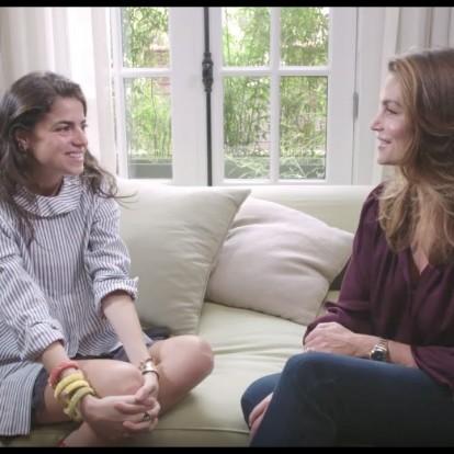 Δείτε τη συνέντευξη της εντυπωσιακής Cindy Crawford