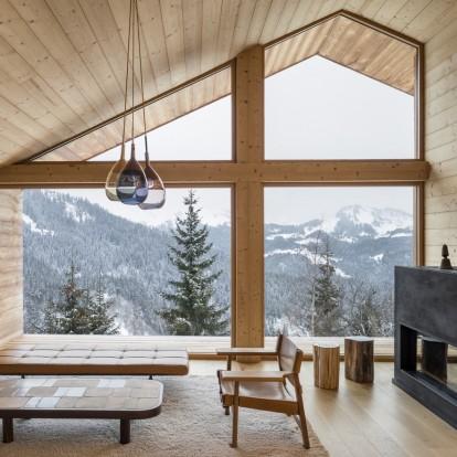 Mountain Ηouse στις Άλπεις: η σύγχρονη εκδοχή του ξύλινου chalet