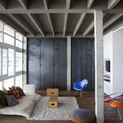 Ένα σύγχρονο εντυπωσιακό loft από εμφανές μπετόν στο Sao Paulo