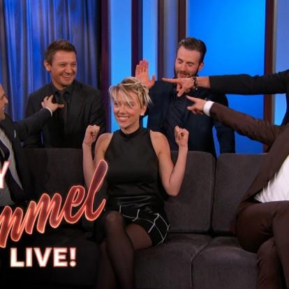 Όταν οι Avengers συνάντησαν τον κωμικό και παρουσιαστή Jimmy Kimmel