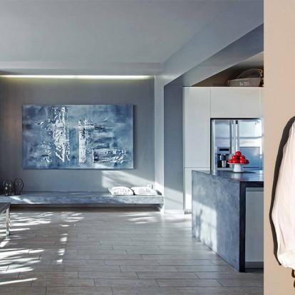 Οι αποχρώσεις του γκρι γίνονται η βασική ιδέα σ' ένα loft στην Αθήνα
