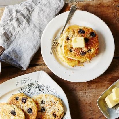 Μία εύκολη και γρήγορη συνταγή για blueberry pancakes