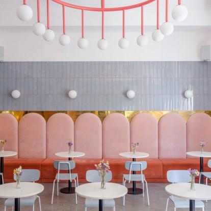 Ένα πολύχρωμο bakery σχεδιάστηκε με βάση την pop αισθητική