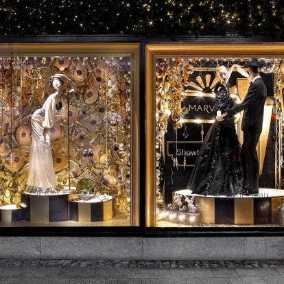 Φαντασμαγορικές χριστουγεννιάτικες βιτρίνες σε διάσημα καταστήματα του κόσμου