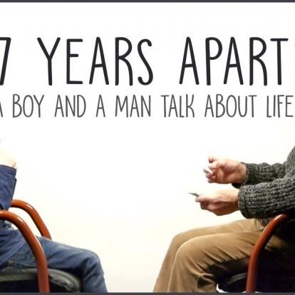Ένας άντρας και ένα αγόρι με 57 χρόνια διαφορά σε μια συζήτηση για τη ζωή