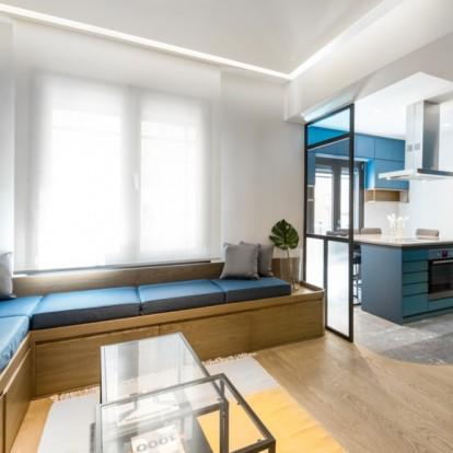 Ένα διαμέρισμα στη Θεσσαλονίκη με ανατρεπτικό σχεδιασμό που θυμίζει καράβι