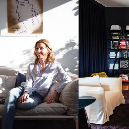 Η Μάγδα Τσολάκη Δελούδη μας υποδέχτηκε στο υπέροχο σπίτι της