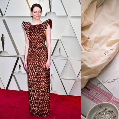 Αποκλειστικά στο GLOW.GR πώς δημιουργήθηκε το φόρεμα της Emma Stone για τα Oscars
