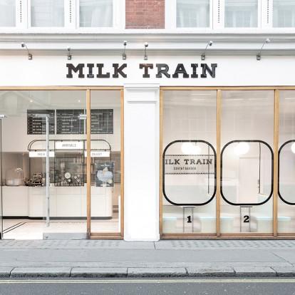 Δείτε ένα υπέροχο ice-cream shop που μοιάζει με τρένο