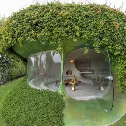 Mια πράσινη αόρατη κατοικία σε σχήμα φυστικιού στο Μεξικό