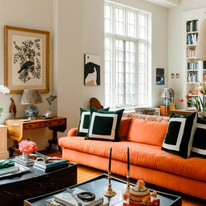 Δείτε ένα διαμέρισμα-ωδή στις αποχρώσεις του πορτοκαλί