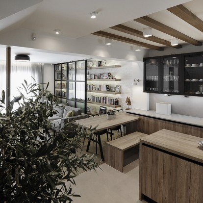 Ένα μοντέρνο διαμέρισμα στη Θέρμη με στοιχεία βιομηχανικού design