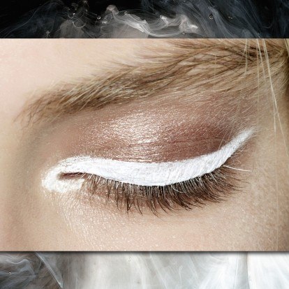 Λευκό eyeliner: το πιο hot χρώμα του χειμώνα για τα μάτια