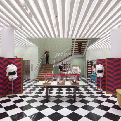 Tropical deco vibes και φουτουρισμός στο νέο Prada Store στο Μαϊάμι